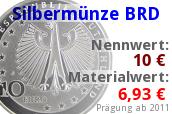 Materialwert Silbermünze