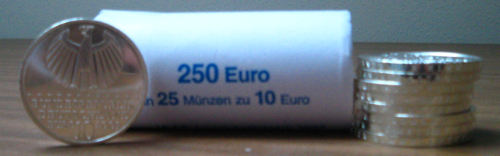 10-Euro-Gedenkmnzen der Bundesbank
