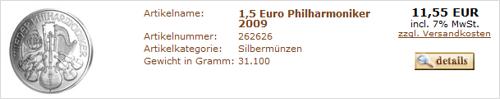 philharmoniker günstig