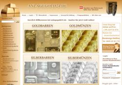 Startseite des Onlineshops