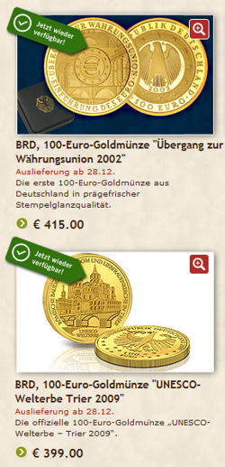 Gold zum Discountpreis