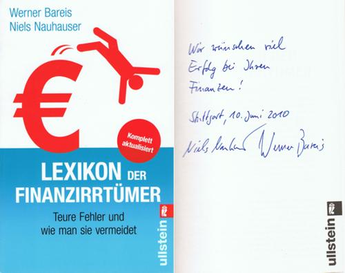 Lexikon der Finanzirrtümer mit Autogramm der Autoren