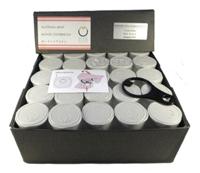 500 Unzen in Silber in einer Box