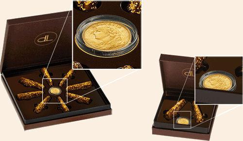 Schokolade mit Gold der Firma delafee