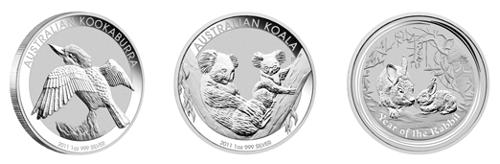 australische Anlagemünzen mit den Motiven 2011