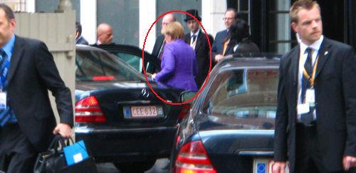 Dr. Angela Merkel beim Arbeitsbesuch in Brüssel