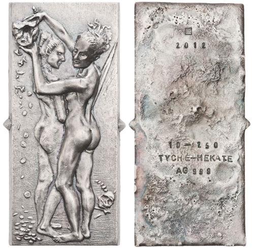 Vorder- und Rückseite von Tilmann Krumrey's Kunstbarren