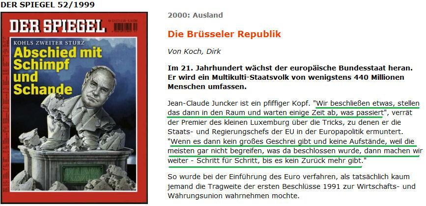 Jean Claude Juncker Zitat im Spiegel