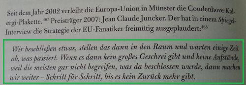 Jean Claude Juncker Zitat im Buch