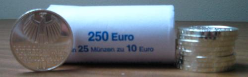 10-Euro-Gedenkmünzen der Bundesbank