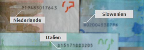 Bei diesen Euroscheinen handelt es sich um keine