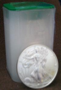 Einzelne Silbermünzen für den kleinen Geldbeutel.