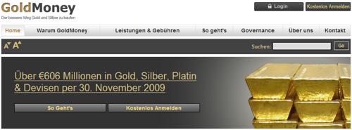 seit kurzem ist goldmoney.com zusätzlich deutschsprachig