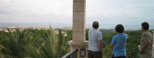 Am Rande einer Besprechung: Herrlicher Blick über Palma de Mallorca
