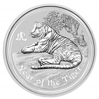 Kilomuenze aus Silber - year of the tiger
