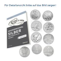 Basiswissen Silber und mehrere Silbermünzen