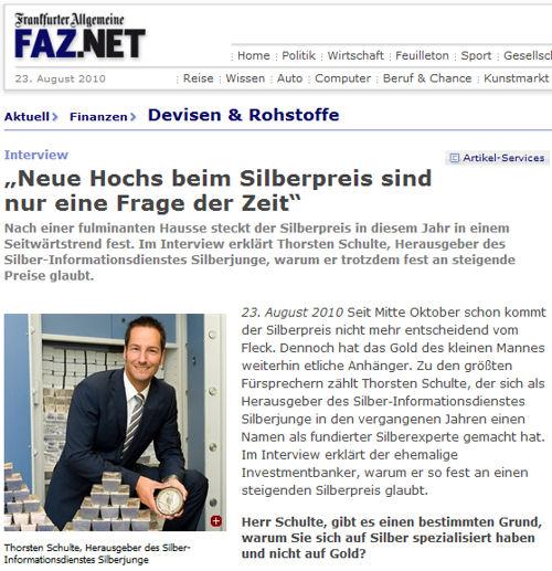 Interview der FAZ mit Silberjunge Thorsten Schulte