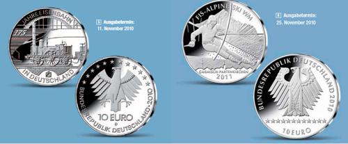 Die letzten deutschen Sterling-Silberzehner sind vorzeitig erhältlich.