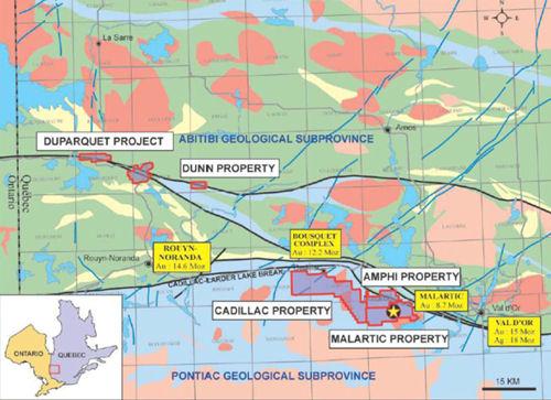 Karte der Clifton Star Projekte