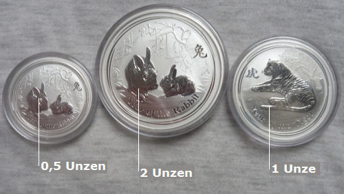 Münzen als Geldanlage aus Silber