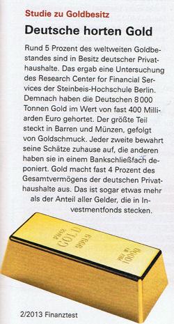 Deutsche horten Gold – Finanztestartikel