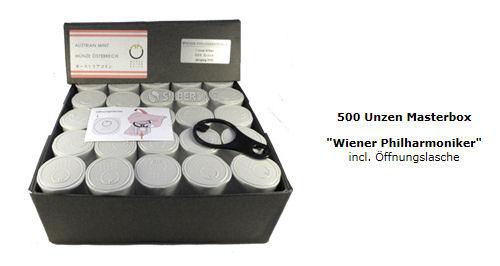 500 Unzen Silber Philharmoniker